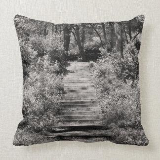 Steps Into Sepia Throw Pillow