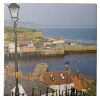 Steps leading down to the harbour, Whitby, North Tile