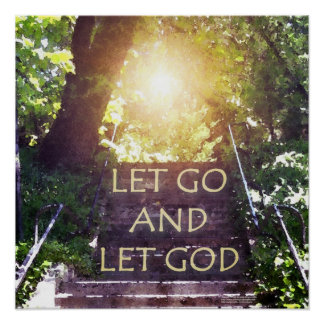 Steps Let Go and Let God Poster