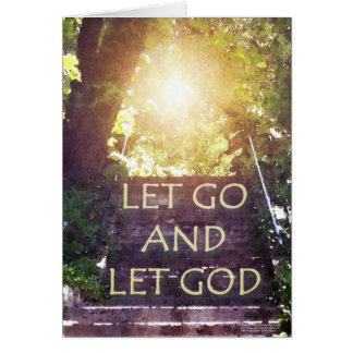 Steps Let God Card
