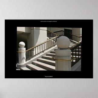 Steps, Nevada Supreme Court building, Carson City Print