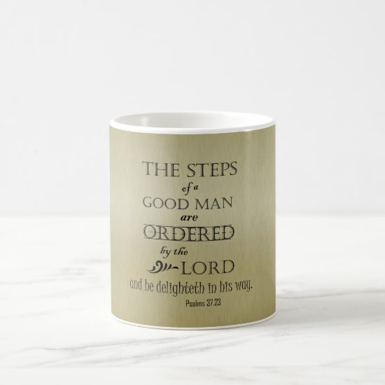 Steps of a Good Man Bible Verse Coffee Mug