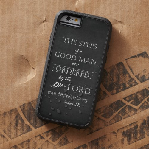 Steps of a Good Man Bible Verse Typography Phone Case