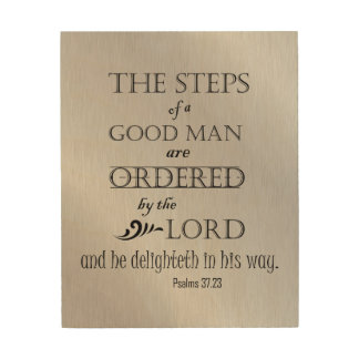 Steps of a Good Man Bible Verse Wood Wall Decor