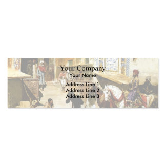 Steps of Mosque Vazirkham,Lahore by Edwin Weeks Business Card Template