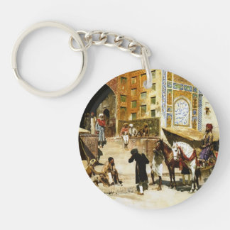 Steps of Mosque Vazirkham,Lahore by Edwin Weeks Single-Sided Round Acrylic Keychain