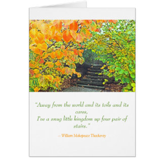 """STEPS PARTIALLY HIDDEN BY LEAVES WITH FALL COLOR"" CARD"