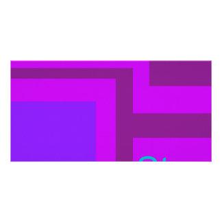 Steps Purple Munsell Customized Photo Card
