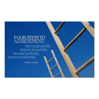 Steps to Achievement Poster Print