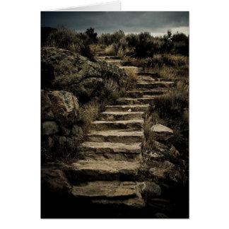 Steps to climb card