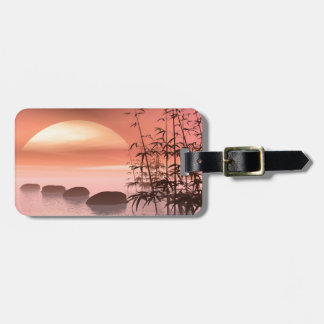 Steps to red sunset bag tag
