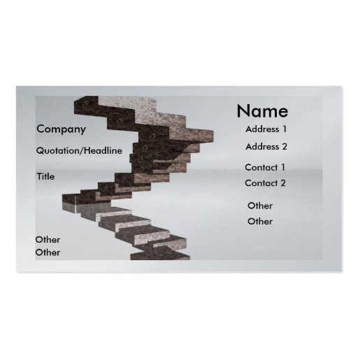 Steps to success business card zazzle for Successful business cards