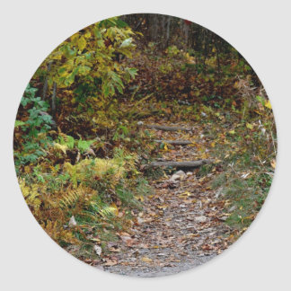 Steps to the Applaachian Trail Round Stickers