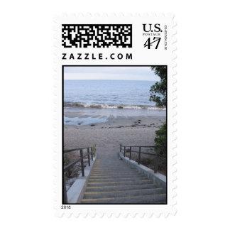 steps to the beach postage