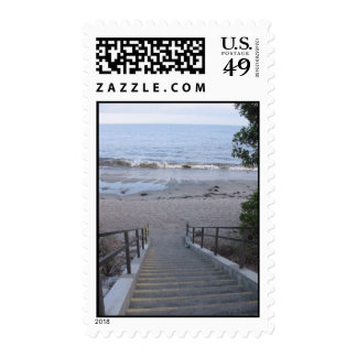 steps to the beach postage