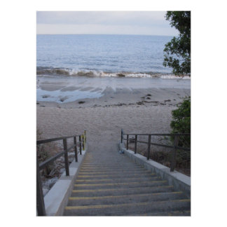 steps to the beach posters