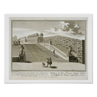 Steps to the garden terrace, Belvedere Palace, Vie Poster