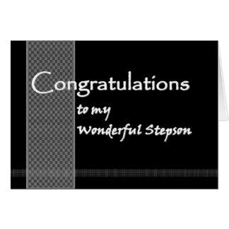 STEPSON Wedding Congratulations Greeting Card