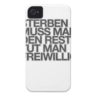 Sterben muss man, den Rest tut man freiwillig. Case-Mate iPhone 4 Case