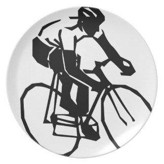 Steren-bike-rider-2400px Melamine Plate