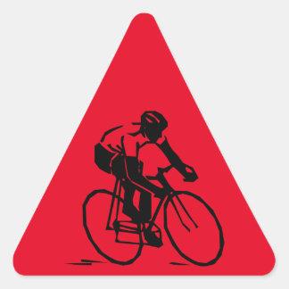 Steren-bike-rider-2400px Pegatina Triangular