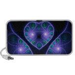 Stereo Love Heart Fractal Purple Laptop Speaker