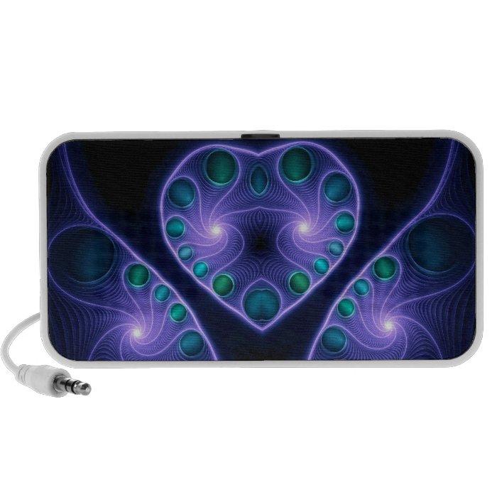 Stereo Love Heart Fractal Purple Mini Speaker