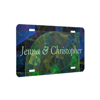 Stereo Punk Flame Fractal License Plate