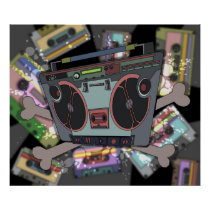 artsprojekt, stereo, boombox, cassette, player, skull, radio, tape, music, mp3, monody, New York City, monophonic music, effects pedal, monophony, polyphony, polytonality, concerted music, polyphonic music, auditory communication, seeded player, scorer, most valuable player, shooter, inkle, adhesive tape, radiocommunication, polytonalism, serial music, serialism, antiphony, syncopation, ta'ziyeh, musical style, musical genre, instrumental music, melodic line, musical harmony, popularism, melodic phrase, Cartaz/impressão com design gráfico personalizado