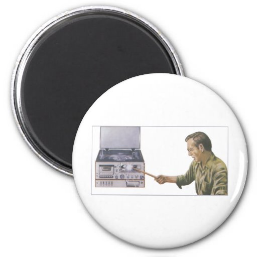 Stereo Smash 2 Inch Round Magnet