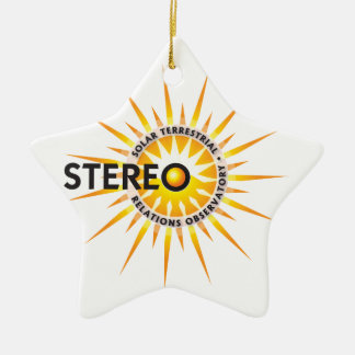 STEREO (Solar TErrestrial RElations Observatory) Double-Sided Star Ceramic Christmas Ornament