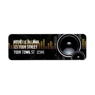 Stereo Speakers Avery Label