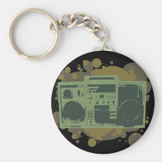 Stereo Style Basic Round Button Keychain
