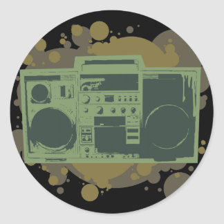Stereo Style Classic Round Sticker
