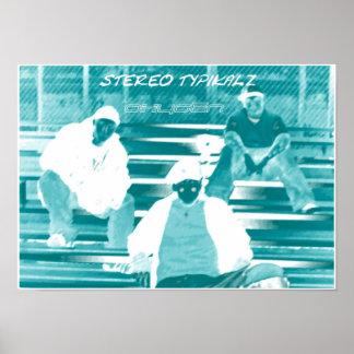 """Stereo Typikalz """"Oxygen"""" Poster"""