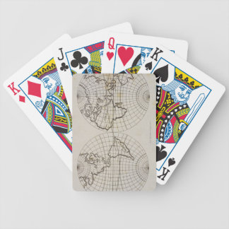 Stereographic Map Bicycle Playing Cards
