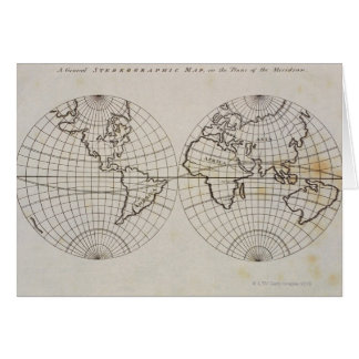 Stereographic Map Greeting Card