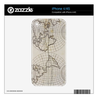 Stereographic Map Decals For The iPhone 4S