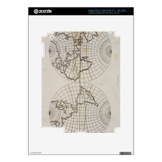 Stereographic Map iPad 3 Decal