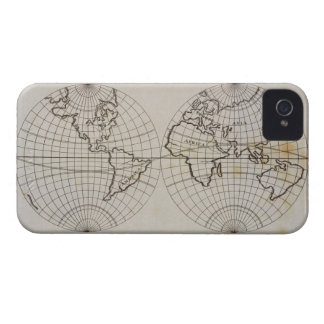 Stereographic Map iPhone 4 Cover