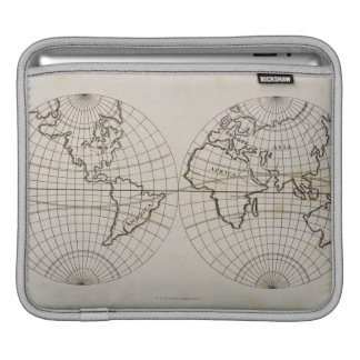 Stereographic Map Sleeve For iPads