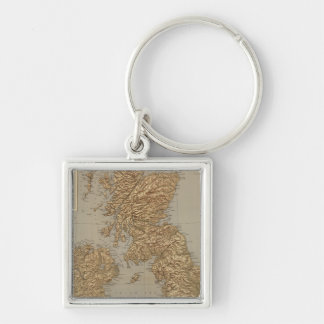 Stereographical map, British Isles Keychain