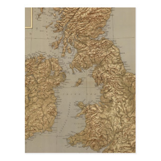 Stereographical map, British Isles Postcard