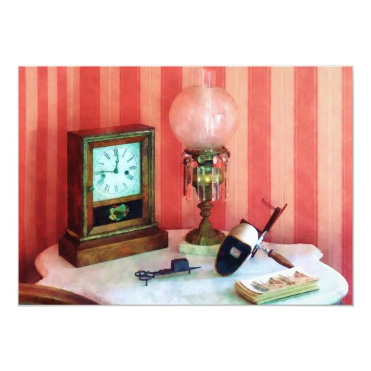 Stereopticon, Lamp and Clock Card