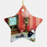 Stereopticon, Lamp and Clock Christmas Ornaments