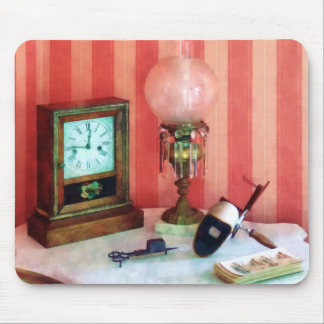 Stereopticon, Lamp and Clock Mouse Pad