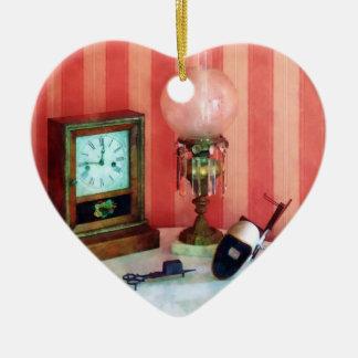 Stereopticon lámpara y reloj ornamentos de reyes