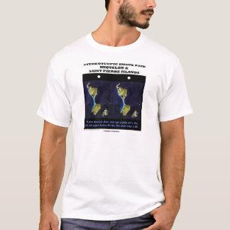 Stereoscopic Image Pair Miquelon & Saint Pierre Is T-Shirt