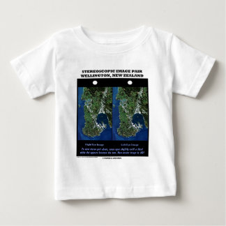 Stereoscopic Image Pair Wellington New Zealand Baby T-Shirt