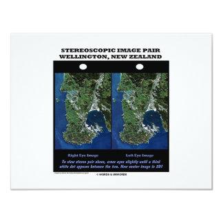 Stereoscopic Image Pair Wellington New Zealand Card